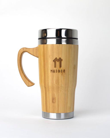 Bamboo Clothing & Accessories by Mabboo, Bamboo Coffee Cup with Handle, Drinking Accessories