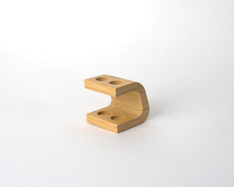 Bamboo Toothbrush Stand - 2 Hole