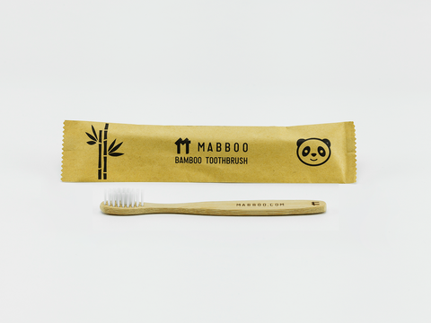 Bamboo Clothing & Accessories by Mabboo, Kids Bamboo Toothbrush - Straight White Bristle, Others
