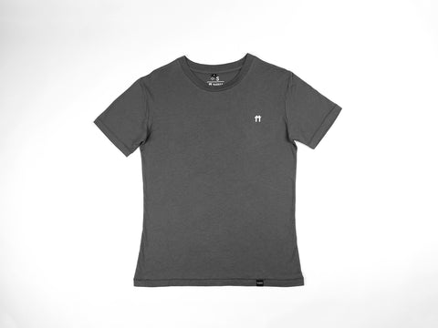 Charcoal Bamboo T-Shirt with logo - Mabboo