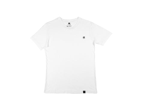 Bamboo Clothing & Accessories by Mabboo, White Bamboo T-shirt with logo, MENS T-Shirt
