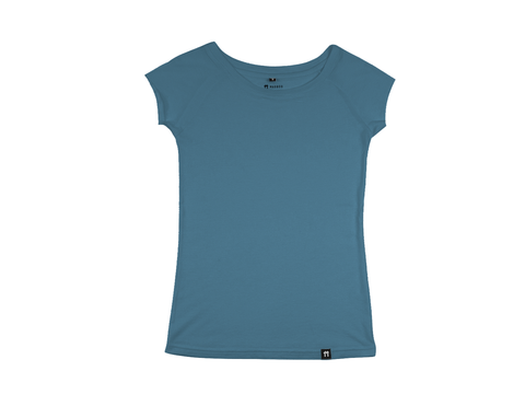 Bamboo Clothing & Accessories by Mabboo, Blue - Raglan Sleeve Bamboo T-Shirt, WOMENS T-Shirt