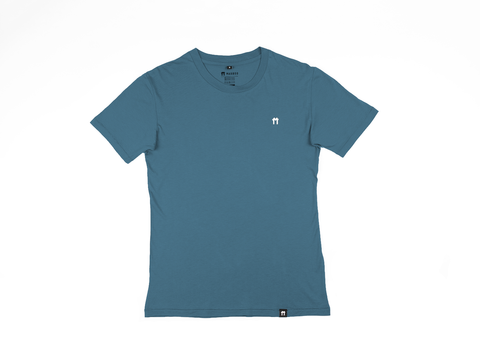 Blue Bamboo T-shirt with logo - Mabboo