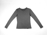 Bamboo Clothing & Accessories by Mabboo, Charcoal - Bamboo Long Sleeve Top, WOMENS T-Shirt