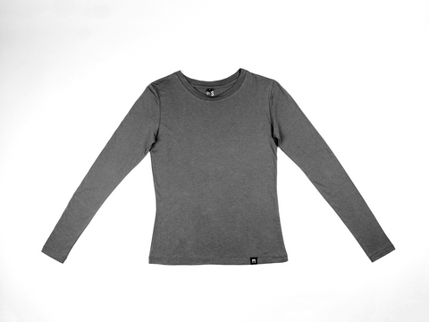 Charcoal - Bamboo Long Sleeve Top - Mabboo