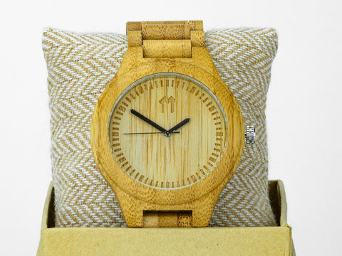 Bamboo Clothing & Accessories by Mabboo, Waterproof Bamboo - 48mm., Watches