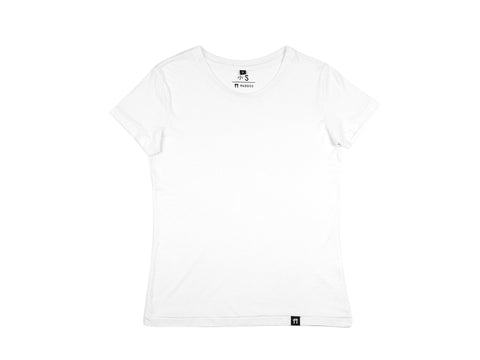 Bamboo Clothing & Accessories by Mabboo, White - Jersey Sleeve Bamboo T-Shirt, WOMENS T-Shirt