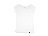 Bamboo Clothing & Accessories by Mabboo, White - Raglan Sleeve Bamboo T-Shirt, WOMENS T-Shirt