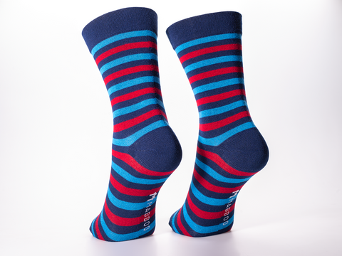 Bamboo Clothing & Accessories by Mabboo, Navy Stripes x1 Pair Bamboo Socks, M_Socks
