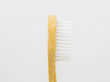 Bamboo Clothing & Accessories by Mabboo, Adults Bamboo Toothbrush - Curved Handle White Bristle, Others