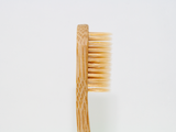 Adults Bamboo Toothbrush - Curved Handle Brown Bristle - Mabboo