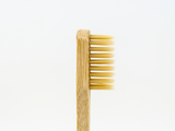 Adults Bamboo Toothbrush - Round Natural - Mabboo