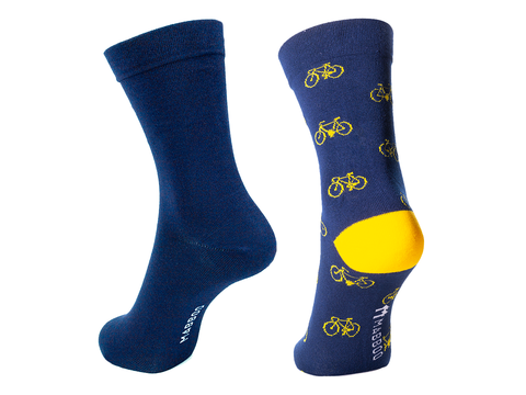 Bamboo Clothing & Accessories by Mabboo, Navy / Navy Bikes - Set of x2 Pairs Bamboo Socks, M_Socks