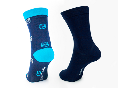 Bamboo Clothing & Accessories by Mabboo, Panda & Navy x2 Pairs Bamboo Socks, W_Socks
