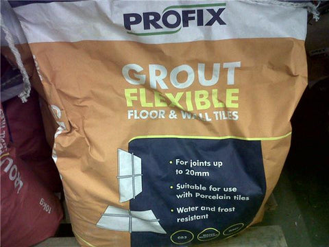 Quality Profix Grout Flexible - 10kg Grey