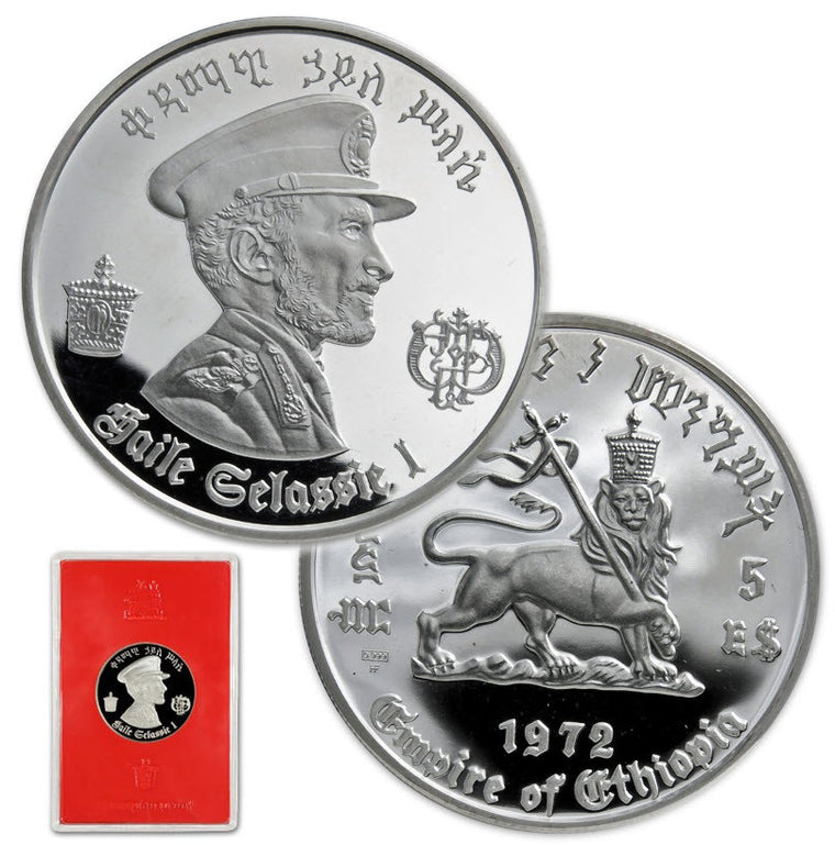 1972 Ethiopia Haile Selassie Proof Silver Coin