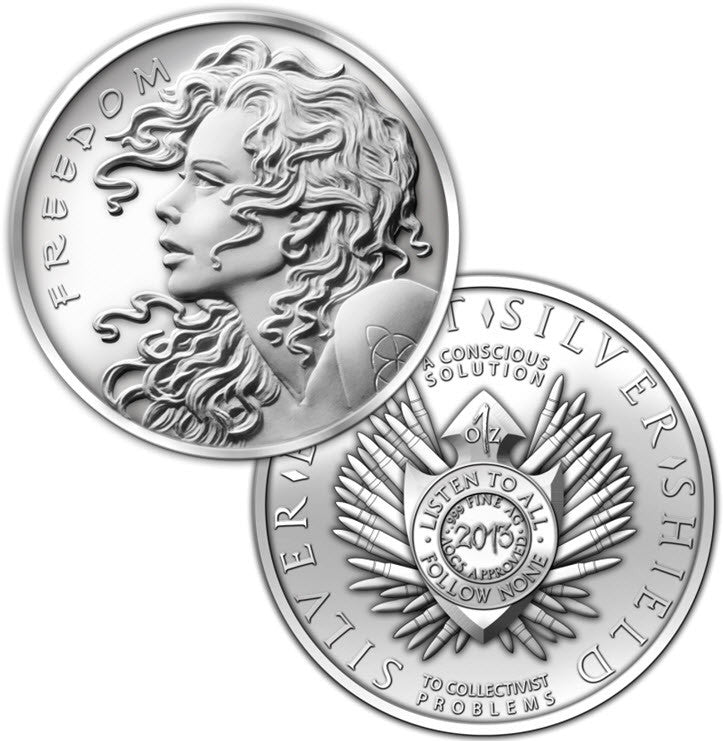 2013 SBSS Freedom Girl Silver 1 oz Round