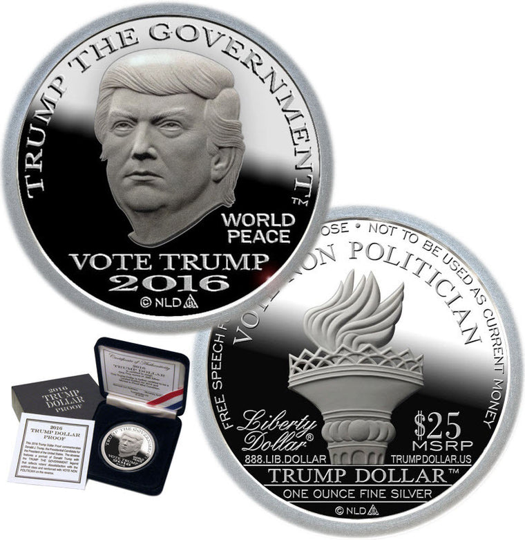 2016 Trump PROOF Silver Dollar w/ OGP & COA