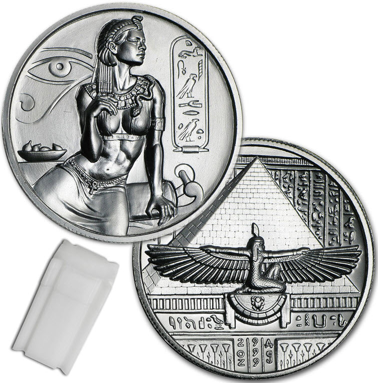 Cleopatra -- Egyptian Gods Series -- Roll of 10 - 2oz Silver Rounds