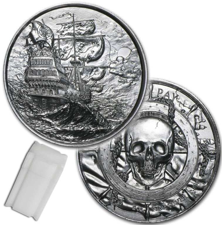 Privateer Original (Storm) Silver 2 oz  Round - Tube of 10 Rounds