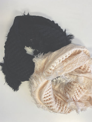 Infinity Knit Fringe Scarf (2 Colors)