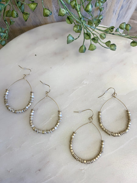 "E1370 Teardrop 2"" Earring (2 Colors)"