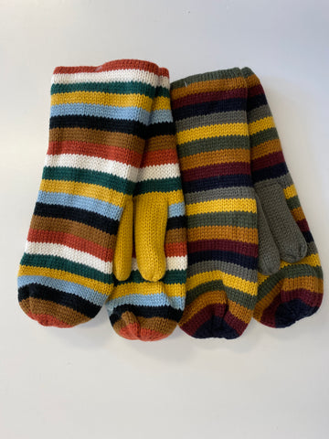 Multi Stripe Mitten (2 Colors)