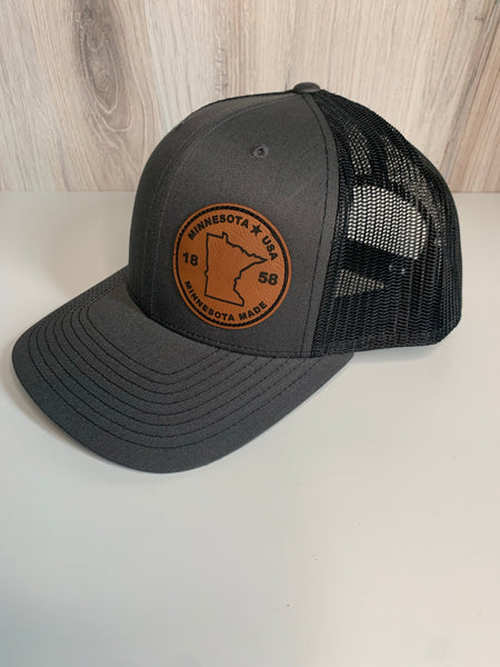 MN Circle Leather Patch Hat (4 Colors)