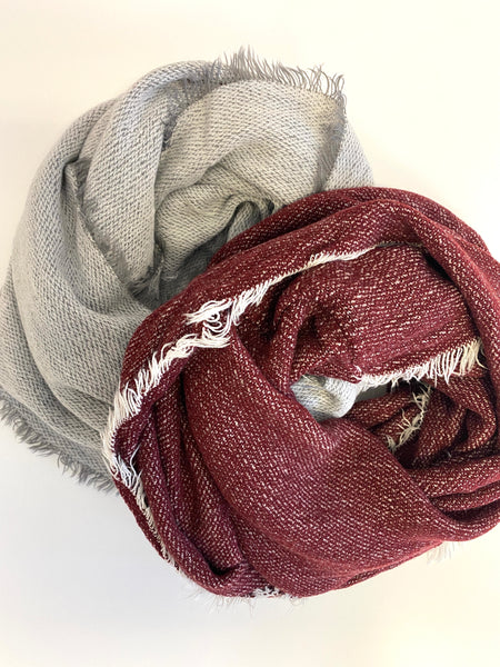 Raw Hem Infinity Scarf (2 Colors)