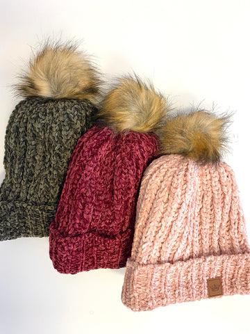 Chenille Hat (Multiple Colors)