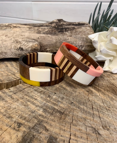 B48 Wood Geometric Bracelet (2 Colors)