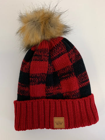 Two-tone Plaid Hat