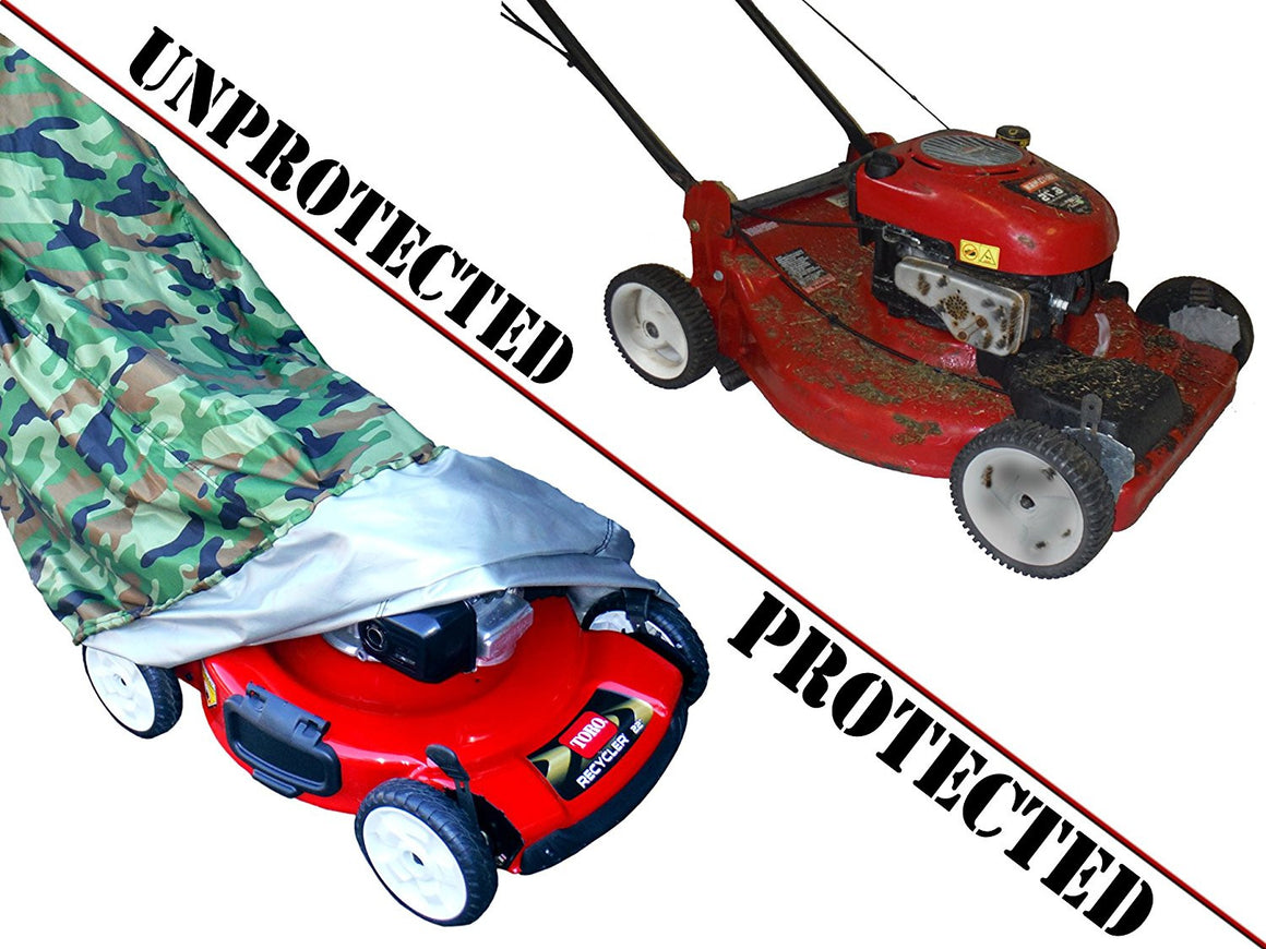 WeatherPRO Lawn Mower Cover - Camouflage - WeatherPRO Cover,   - Lawn Mower Cover