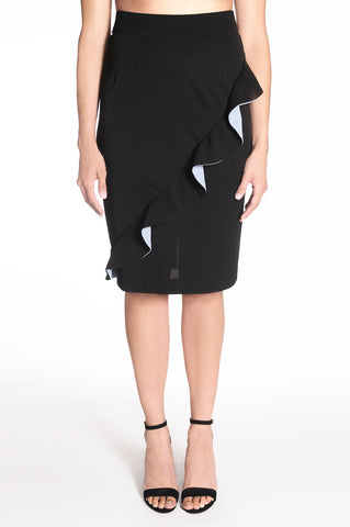 RUFFLE PENCIL SKIRT | REGINA