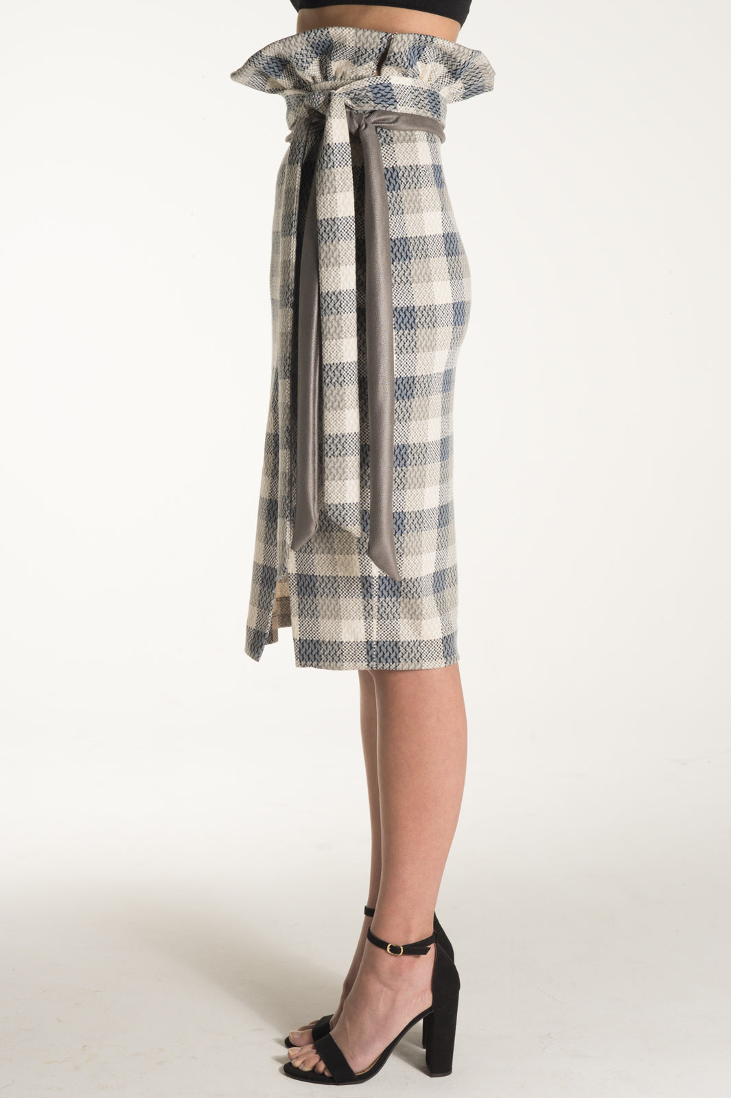 PLAID PENCIL SKIRT | DAPHNE