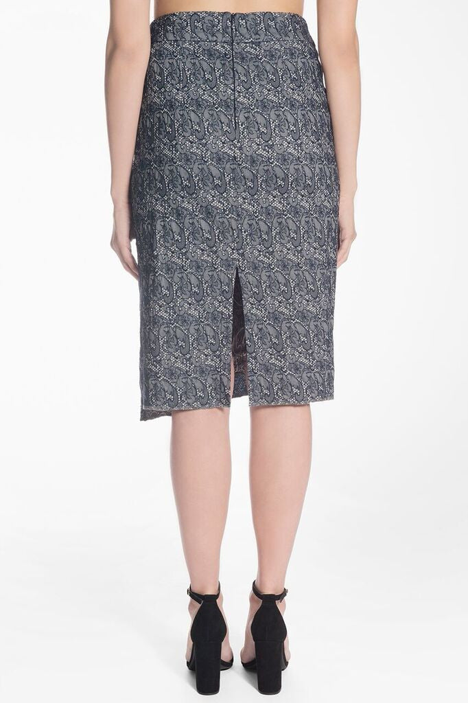 DENIM PENCIL SKIRT | NAOMI