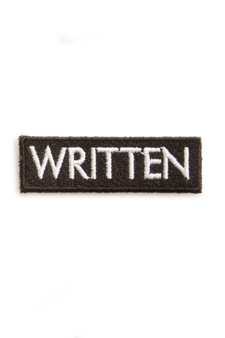 EMBROIDERED PATCH | WRITTEN