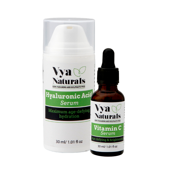 Age Defying Skin Duo Bundle with Hyaluronic Acid Serum - Anti-Aging Serum For Face and Vitamin C Skin Serum- Anti-Aging Formula With Natural Ingredients