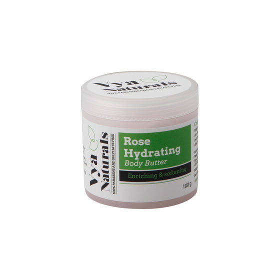 Rose Hydrating Nourishing & Moisturizing Natural Body Butter - Ultra Hydrating Whipped Body Soufflé - Contains Cocoa Butter - No Animal Testing 3.5 OZ