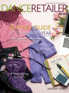 DANCE RETAILER NEWS JANUARY 2018