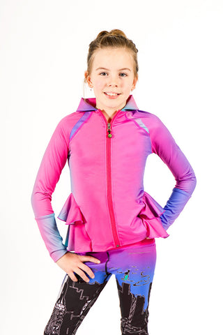 Tween Clothes Detailed Ruffle Jacket