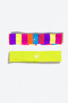 2 Pc Headband Set- Multicolor + Yellow