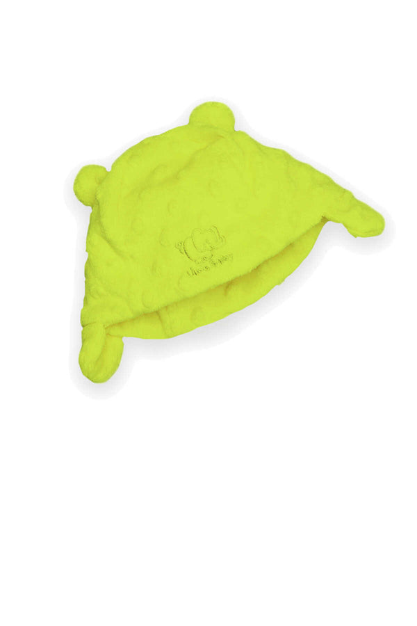 Baby Minky Bubble Hat - Lime