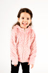 Baby Minky Dot Bubble Hoodie - Light Pink