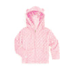 Baby Minky Dot Bubble Hoodie Legging Set - Light Pink
