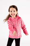 Baby Minky Dot Bubble Hoodie Legging Set - Dusty Rose