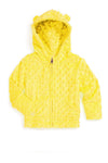 Baby Minky Dot Bubble Hoodie - Yellow