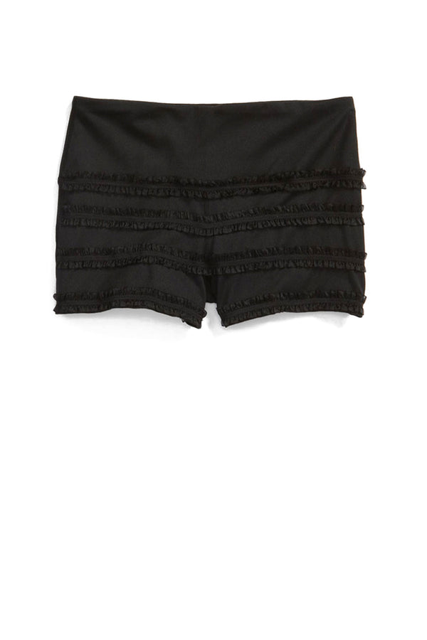 Ruffle Mini Shorts - Black