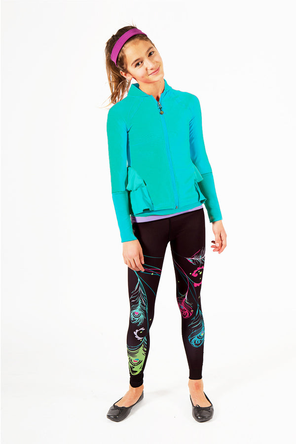 Feather Printed Leggings