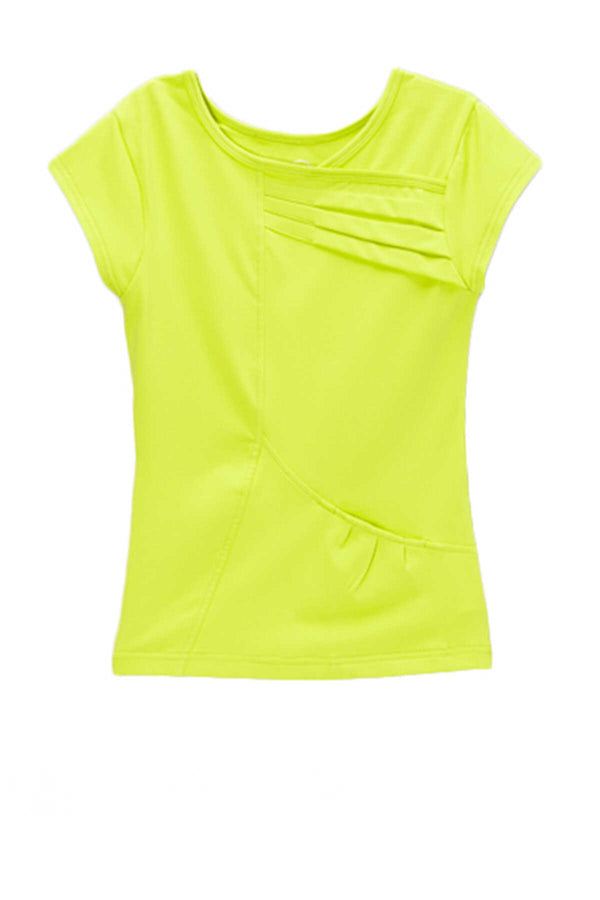 Love In Color Pleated Top - Lime